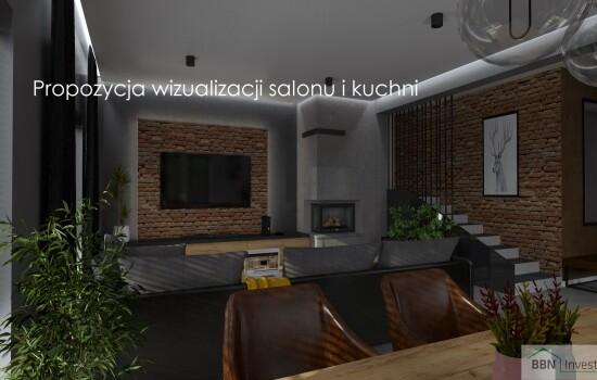 2020-12-05 Propozycja wizualizacji salonu i kuchni 1