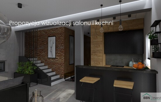 2020-12-05 Propozycja wizualizacji salonu i kuchni 2