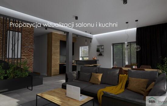2020-12-05 Propozycja wizualizacji salonu i kuchni 3