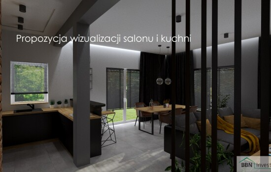 2020-12-05 Propozycja wizualizacji salonu i kuchni 4