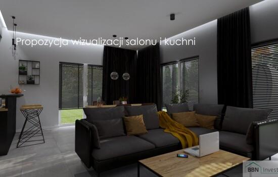 2020-12-05 Propozycja wizualizacji salonu i kuchni 5